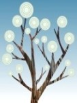 8085434-retro-abstract-tree-paint-style-illustration