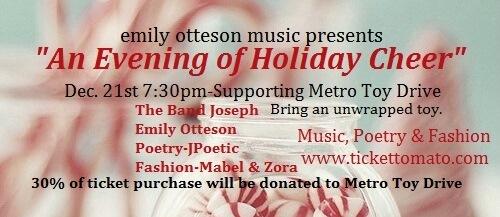Emily Otteson Music, Portland Music, Christmas Event,  Portland, Portland Events
