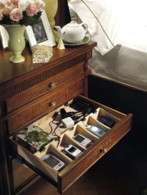 cords on nightstands